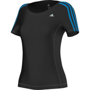 T-shirty z krótkim rękawem adidas Performance T-shirt Clima 3 bandes Essentiels