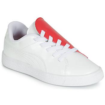 Buty Dziewczynka Trampki niskie Puma PS BKT CRUSH PATENT AC.W-H Biały