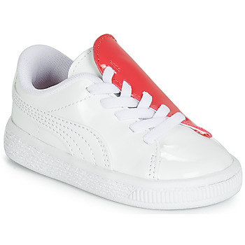 Buty Dziewczynka Trampki niskie Puma INF B CRUSH PATENT AC.W-H Biały
