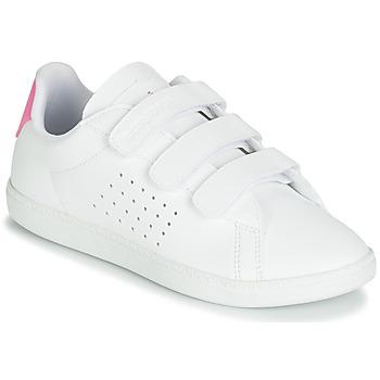 Buty Dziewczynka Trampki niskie Le Coq Sportif COURTSET PS Biały / Różowy
