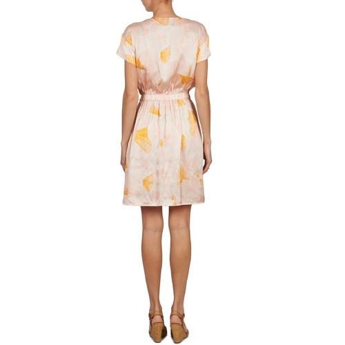 Kookaï VOULATE Różowy / Żółty - Bezpłatna dostawa |  - tekstylia Sukienki krótkie Damskie 40720 zł.
