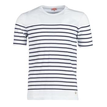 tekstylia Męskie T-shirty z krótkim rękawem Armor Lux YAYALOUT Biały / Marine