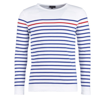 tekstylia Męskie T-shirty z długim rękawem Armor Lux YAYAYOUT Biały / Niebieski / Czerwony