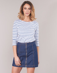 tekstylia Damskie T-shirty z długim rękawem Armor Lux YAYAROULE Biały / Niebieski