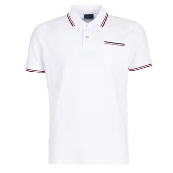 tekstylia Męskie Koszulki polo z krótkim rękawem Gant COL TIPPING PIQUE Biały