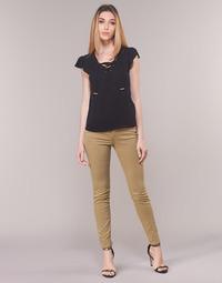 tekstylia Damskie Spodnie z pięcioma kieszeniami Armani Exchange HELBIRO Beżowy