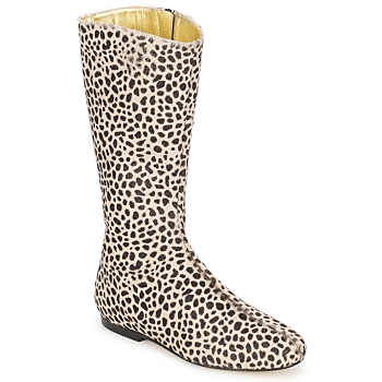 Buty Damskie Kozaki French Sole PATCH Leopard