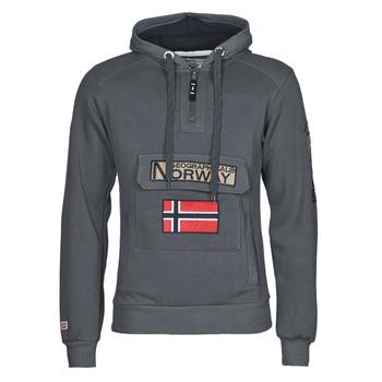 tekstylia Męskie Bluzy Geographical Norway GYMCLASS Szary