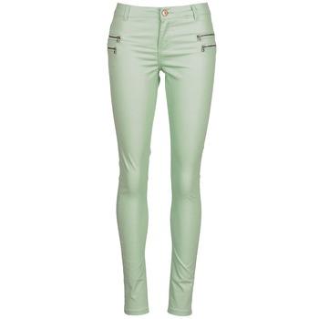 tekstylia Damskie Spodnie z pięcioma kieszeniami Noisy May FAME Zielony