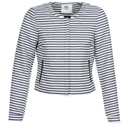 tekstylia Damskie Kurtki / Blezery Vero Moda MALTA Marine / Biały