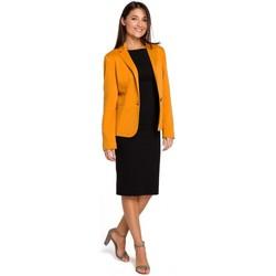 tekstylia Damskie Sukienki Be B080 Zwiewna sukienka midi bez rękawów Różowy