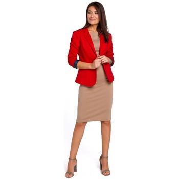 tekstylia Damskie Sukienki Be B080 Zwiewna sukienka midi bez rękawów Beżowy