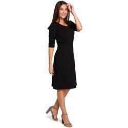 tekstylia Damskie Topy / Bluzki Be B079 Bluza z kimonowymi rękawami Czarny