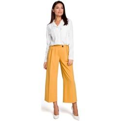 tekstylia Damskie Sukienki Moe M381 Sukienka we wzór z falbankami Szary