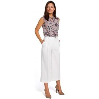 tekstylia Damskie Sukienki Moe M380 Sukienka z dekoltem na plecach Ecru