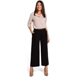 tekstylia Damskie Sukienki Moe M380 Sukienka z dekoltem na plecach Pudrowy