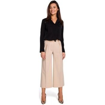 tekstylia Damskie Sukienki Style S139 Cullotes - beżowy