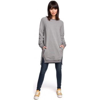 tekstylia Damskie Sukienki Style S111 Sukienka z kieszeniami i wiązaniem przy rękawach Granatowy
