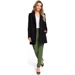 tekstylia Damskie Spódnice Style S103 Spódnica z kieszeniami z przodu Czarny