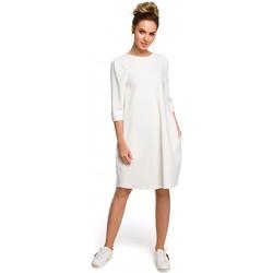 tekstylia Damskie Sukienki Moe M364 Sukienka midi kimonowe rękawy z zakładkami Czerwony