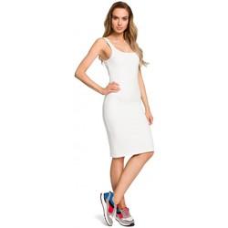 tekstylia Damskie Sukienki Be B078 Sukienka z wycięciem i wstawką z koronki Grafitowy