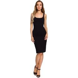 tekstylia Damskie Sukienki Be B078 Sukienka z wycięciem i wstawką z koronki Beżowy