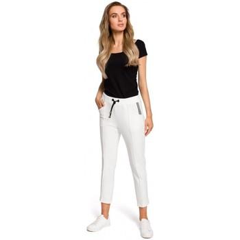 tekstylia Damskie Bluzy Be B076 Bluzka z koronką Grafitowy