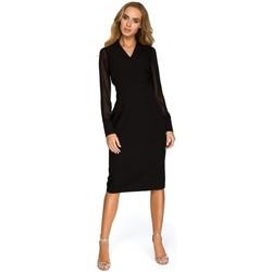 tekstylia Damskie Tuniki Be B059 Tunika oversize z przeszyciami - żółta Żółty