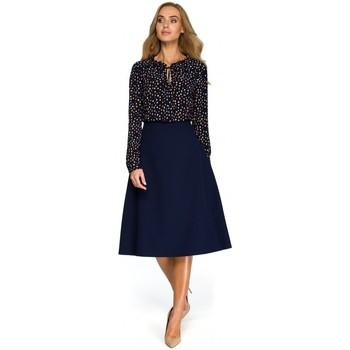 tekstylia Damskie Topy / Bluzki Be B054 Długa zasuwana bluza z kapturem Brązowy