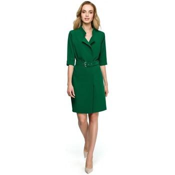 tekstylia Damskie Tuniki Be B015 Tunika z zaszewkami przy rękawach Zielony