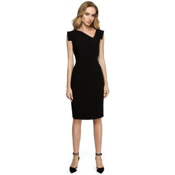 tekstylia Damskie Spódnice Style S060 Spódnica z wycięciem Czarny
