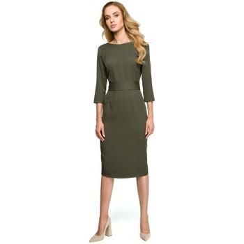 tekstylia Damskie Sukienki Style S059 Sukienka z długim zamkiem - fuksjowa Fuksja