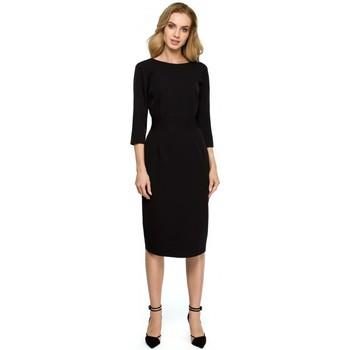 tekstylia Damskie Sukienki Style S059 Sukienka z długim zamkiem Czarny