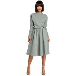 tekstylia Damskie Sukienki Moe M272 Sukienka z szyfonem Czarny
