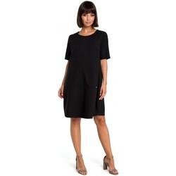 tekstylia Damskie Bluzy Be B082 Breezy shift dress - czarny