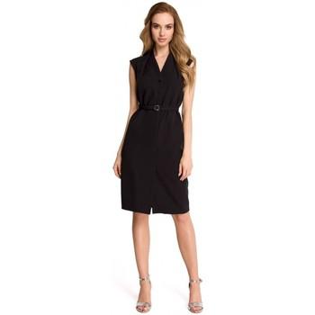 tekstylia Damskie Sukienki Moe M206 Koktajlowa sukienka z długimi rękawami Ecru