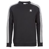 tekstylia Męskie Bluzy adidas Originals 3 STRIPES CREW Czarny