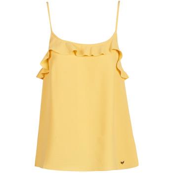 tekstylia Damskie Topy na ramiączkach / T-shirty bez rękawów Les Petites Bombes AZITAFE Żółty