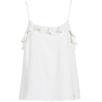 tekstylia Damskie Topy na ramiączkach / T-shirty bez rękawów Les Petites Bombes AZITAFE Biały