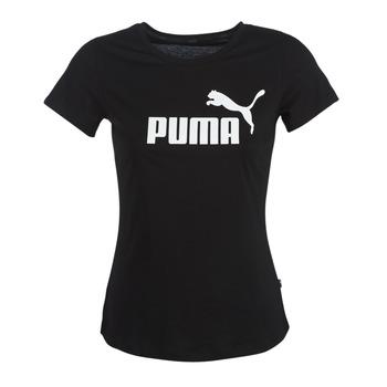 tekstylia Damskie T-shirty z krótkim rękawem Puma PERMA ESS TEE Czarny