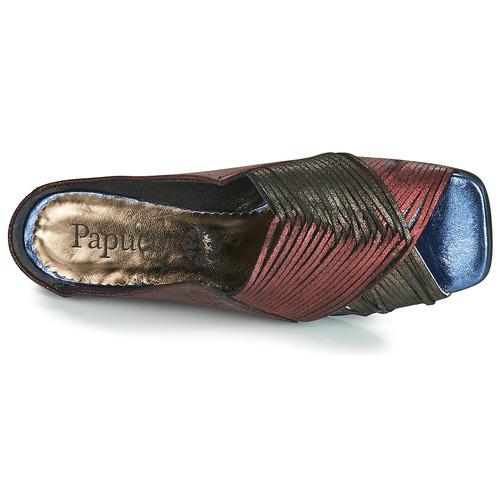 Papucei KEPLER Czarny / Bordeaux - Bezpłatna dostawa