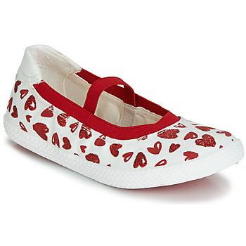 Buty Dziewczynka Baleriny Geox J KILWI GIRL Biały / Czerwony