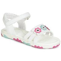 Buty Dziewczynka Sandały Geox J SANDAL HAITI GIRL Biały