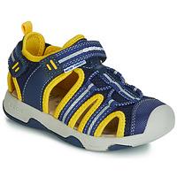 Buty Chłopiec Sandały Geox B SANDAL MULTY BOY Niebieski / Żółty