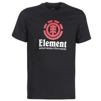 tekstylia Męskie T-shirty z krótkim rękawem Element VERTICAL SS Czarny