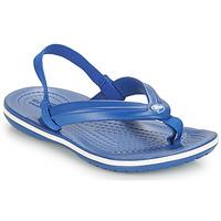 Buty Dziecko Japonki Crocs CROCBAND STRAP FLIP K Niebieski