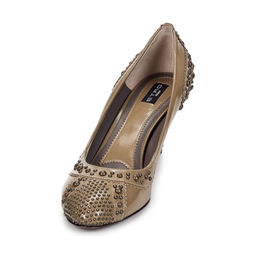 Etro Grace Beżowy - Bezpłatna Dostawa- Buty Czółenka Damskie 1 00760 Najniższa Cena