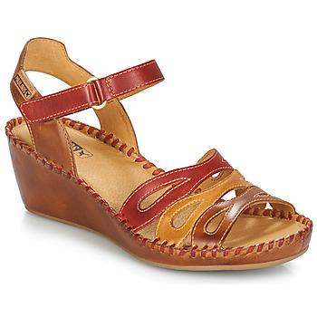 Buty Damskie Sandały Pikolinos MARGARITA 943 Czerwony / Brązowy