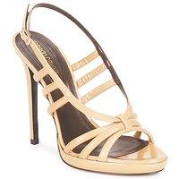 Buty Damskie Sandały Roberto Cavalli QDS626-PL028 Beżowy