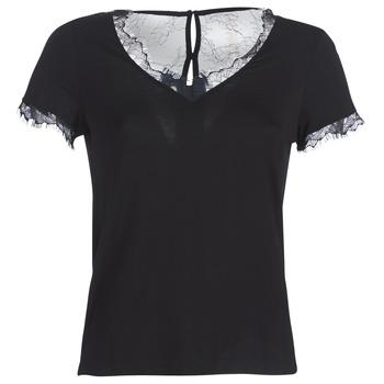 tekstylia Damskie T-shirty z krótkim rękawem Morgan DMINOL Czarny